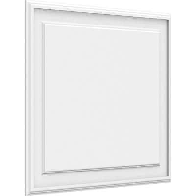 5/8 in. x 2-1/2 ft. x 2 ft. Legacy Raised Panel White PVC Decorative Wall Panel