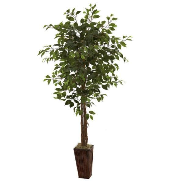 6 Ft Artificial Fig Tree Indoor Outdoor Home Decorative Planter Natural Soft Pp