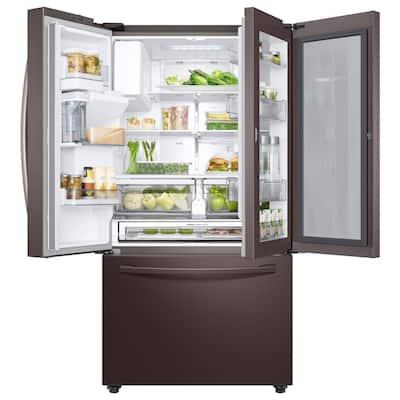 28 cu. ft. 3-Door French Door Refrigerator in Tuscan Stainless Steel with Food Showcase Door