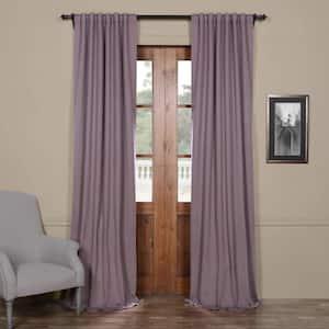 Purple Rain Rod Pocket Blackout Curtain - 50 in. W x 108 in. L