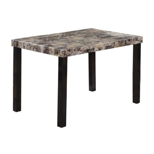 Best Master Furniture Haskel 48 In Faux Marble Rectangular Dining Table Cd037bt The Home Depot