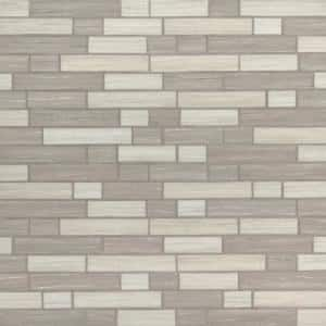 Silva Oak Interlocking 11.81 in. x 11.81 in. x 6mm Glass Mesh-Mounted Mosaic Tile (14.55 sq. ft. / case)