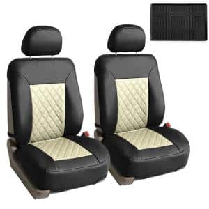 Fh Group Quality Faux Leather 47 In X 23 In X 1 In Diamond Pattern Car Seat Cushions Dmpu088bgblk102 The Home Depot