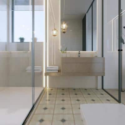 BaseCore 12 in. W x 12 in. L x 2 mm T Calabrian Peel and Stick Vinyl Floor Tile (36-Tile/36 sq. ft./case)