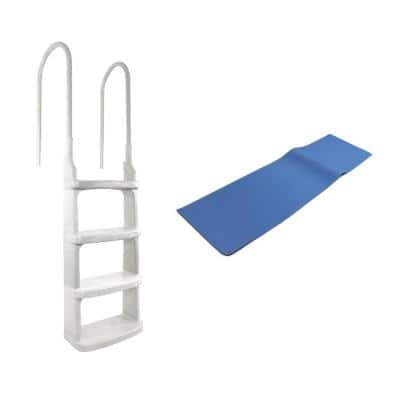 Easy Incline Ladder for Above Ground In-Pool Swimming Pool with Mat