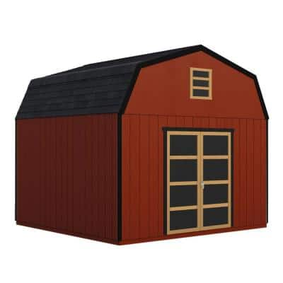 Do-it Yourself Hudson 12 ft. x 20 ft. Wooden Storage Shed with Flooring Included