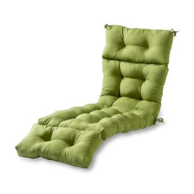 Solid Summerside Green Outdoor Chaise Lounge Cushion
