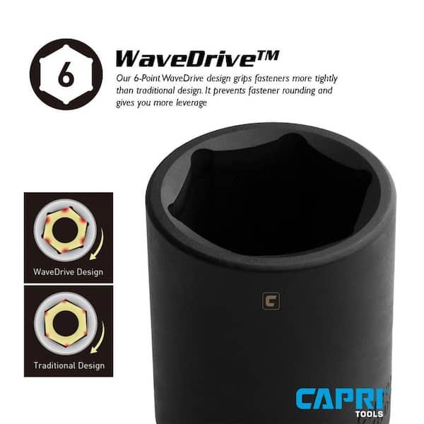 Proferred S34136 3//4 Drive SAE Socket 1 1//8 Deep Impact 6 Point