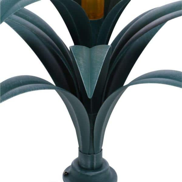 Hampton Bay Bromeliad Brown And Green Plant Solar Integrated Led Light Nxt 2649 The Home Depot