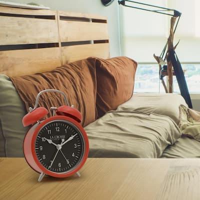 Red Twin Bell Quartz Alarm Clock