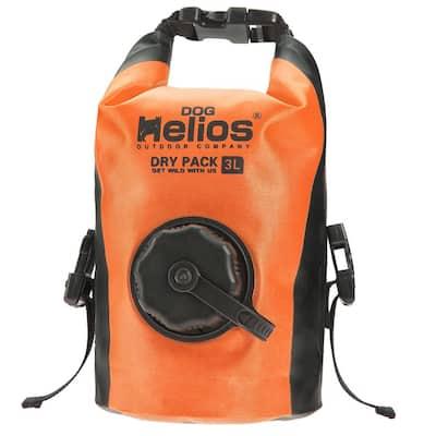 3 l Orange Grazer Waterproof Outdoor Travel Dry Food Dispenser Bag