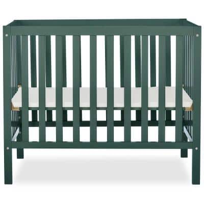 Edgewood 4-in-1 Olive Convertible Mini Crib