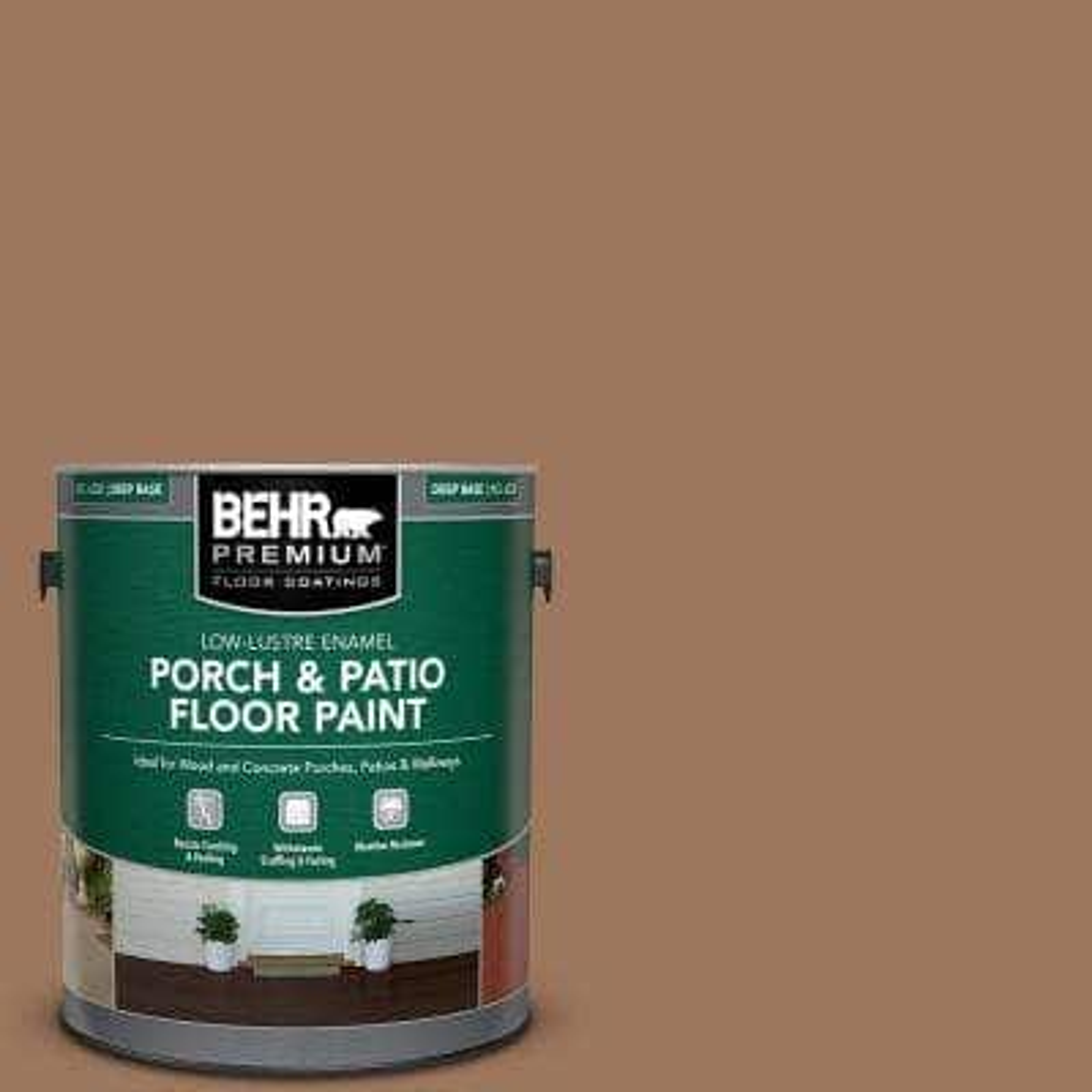 1 gal. #SC-152 Red Cedar Low-Lustre Enamel Interior/Exterior Porch and Patio Floor Paint
