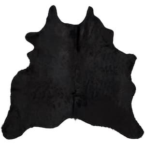 Cow Hide Black/Brown 4 ft. x 6 ft. Area Rug