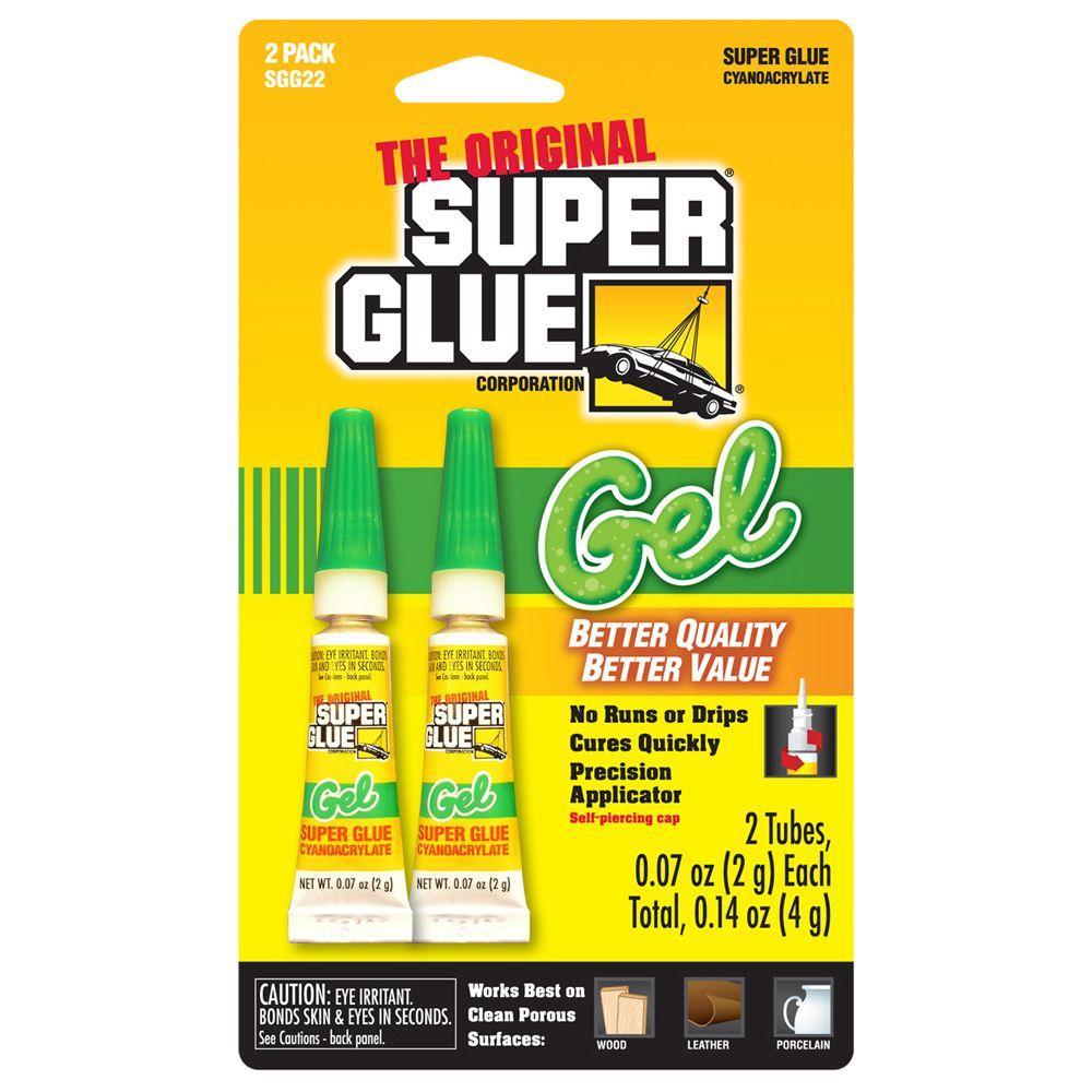 0.07 oz. Super Glue Gel, (2) 0.07 oz. Tubes per card, Case pack of 12 cards