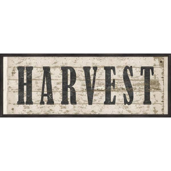 Melissa Van Hise Harvest Wood Sign Framed Giclee Typography Art Print 42 In X 16 In Ip25478 The Home Depot