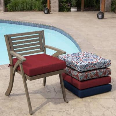 Caliente Canvas Acrylic Square Outdoor Seat Cushion