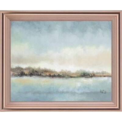 """Calm Horizon"" By Tita Quintero Framed Print Wall Art 28 in. x 34 in."