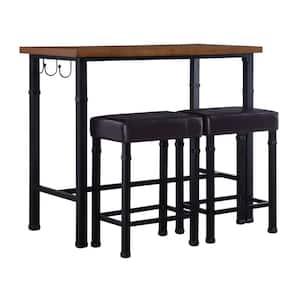 Austin 3-Piece Rustin Brown Bar Table Set