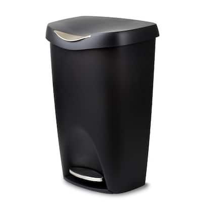 Brim 13 gal. Plastic Touch-Less Waste Basket