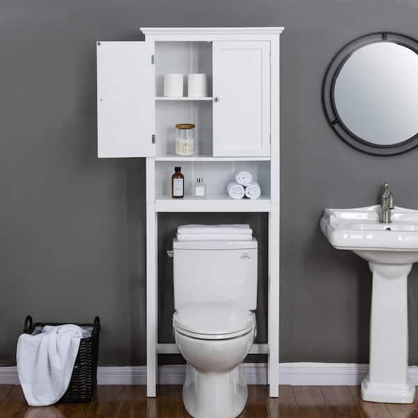 Glitzhome 26 In W X 68 H 9 25, Bathroom Toilet Cabinets