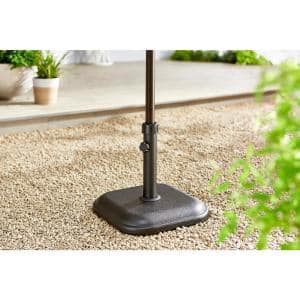 26 lbs. Concrete and Resin Patio Umbrella Base in Black