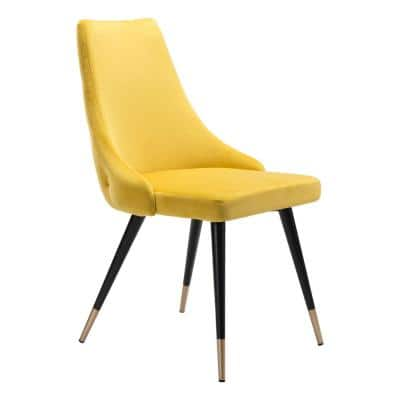 Piccolo Yellow Velvet Dining Chair (Set of 2)
