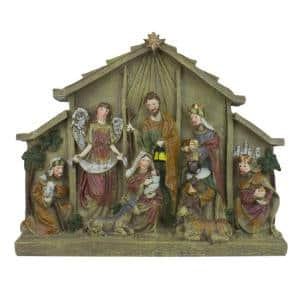 8.5 in. Christmas Tabletop Nativity Scene Figure Decoration