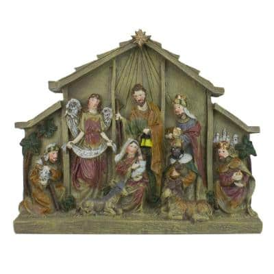 8.5 in. Christmas Tabletop Nativity Scene Figure Decoration