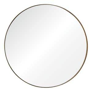 Medium Round Champagne Shatter Resistant Classic Mirror (29.5 in. H x 29.5 in. W)