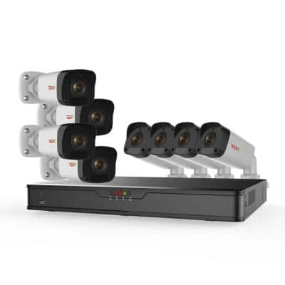 Ultra HD 16-Channel 2TB NVR Surveillance System with 8 2 Megapixel Cameras