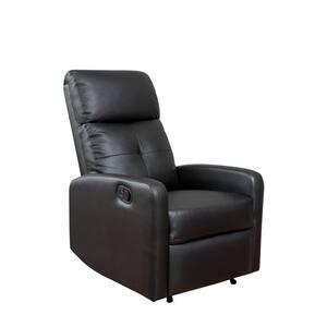 Samedi Black PU Leather Recliner