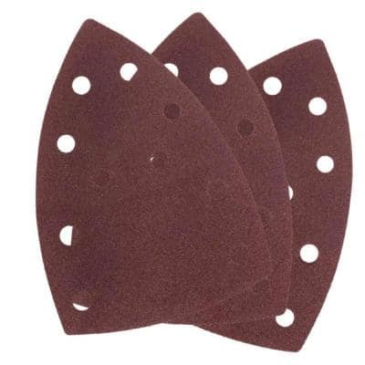 Replacement 6 in. Hook and Loop Mouse Sanding Paper Set for Compact Detail Palm Sander (10-Pack)