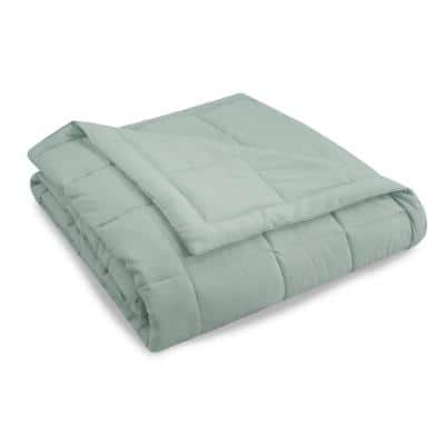 Air Dry Down Alternative Polyester Blanket in Seaglass