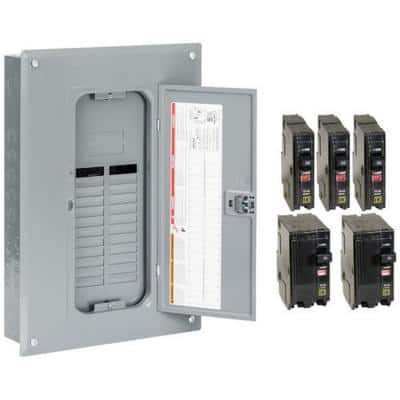 QO 125 Amp 24-Space 24-Circuit Main Lugs Load Center with Cover- Value Pack
