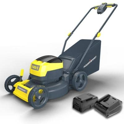 17 in. 40-Volt 3-in-1 Cordless Battery Walk Behind Push Lawn Mower with 4.0 Ah Battery and Charger