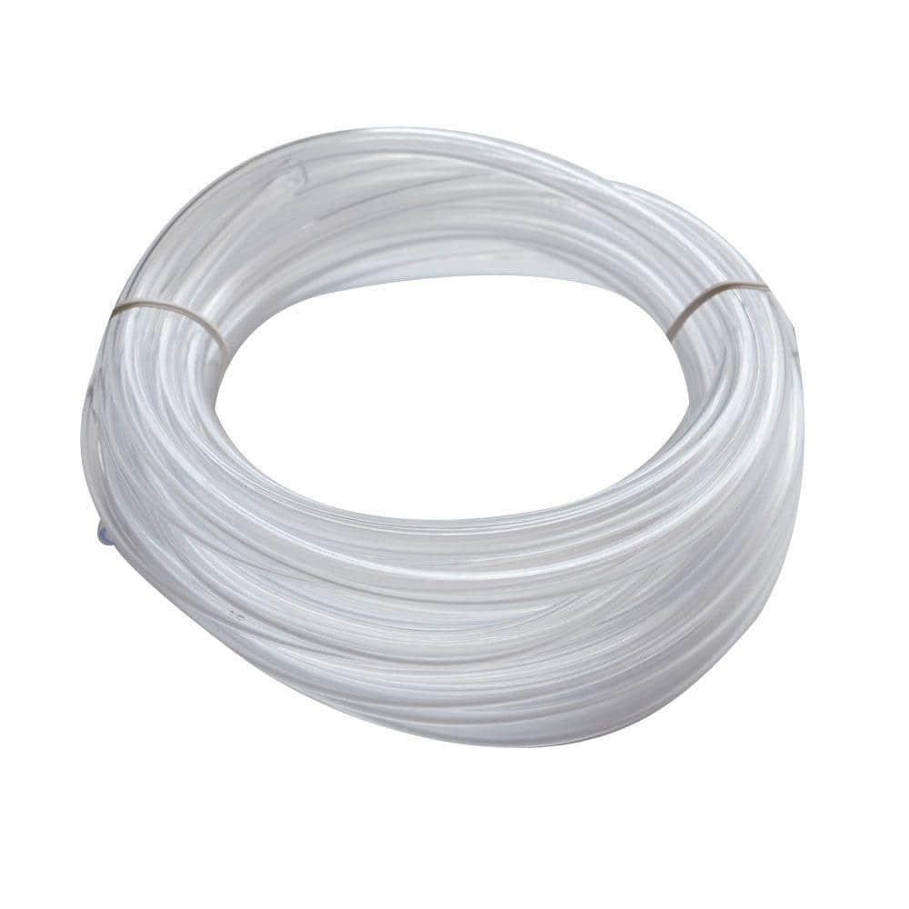 Everbilt 1/4 in. O.D. x 1/6 in. I.D. x 20 ft. Clear PVC Vinyl Tube
