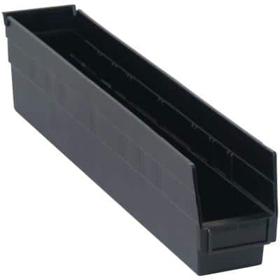 7 Qt. Recycled Shelf Storage Tote in Black (16-Pack)