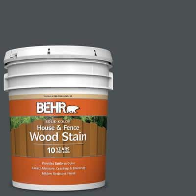 5 gal. #PPU18-1 Cracked Pepper Solid Color House and Fence Exterior Wood Stain