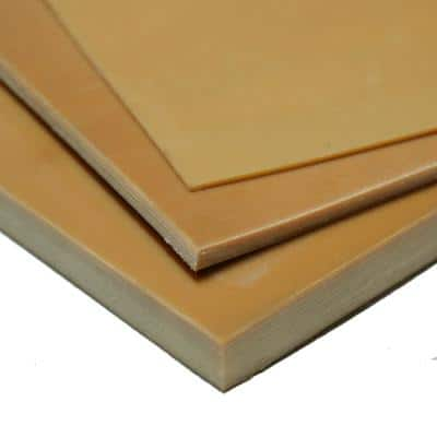 Pure Gum Rubber 1/16 in. x 36 in. x 12 in. Tan Commerical Grade 40A Rubber Sheet