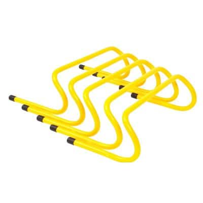 6 in. Speed Training Hurdles in Yellow (5-Pack)