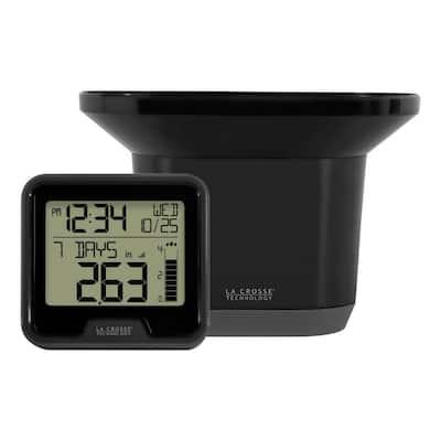 Wireless Digital Rain Gauge with Indoor Temperature