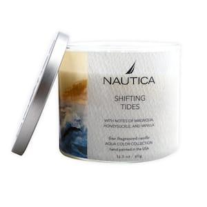14.5 oz. Shifting Tides Multi-Colored Fresh 3-Wick Jar Candle