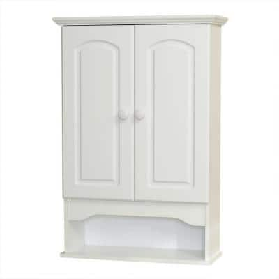 20.8 in. W x 30.5 in. H Bathroom Storage Wall Cabinet in White