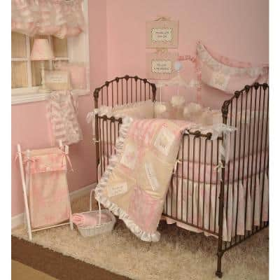Heaven Sent Girl Pink Tye Dye Cotton Fitted Baby Crib Sheet