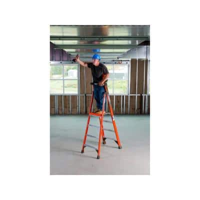 4 ft. Fiberglass Platform Step Ladder ( 10 ft. Reach Height) with 300 lbs. Load Capacity Type IA Duty Rating