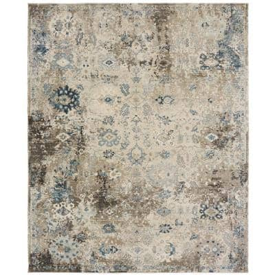 Blues and Greys 9 ft. x 12 ft. Area Rug