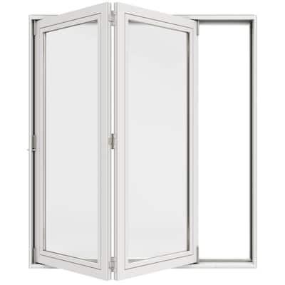 72 in. x 80 in. Primed Fiberglass Left-Hand Full-Lite F-2500 2-Panel Folding Patio Door Kit
