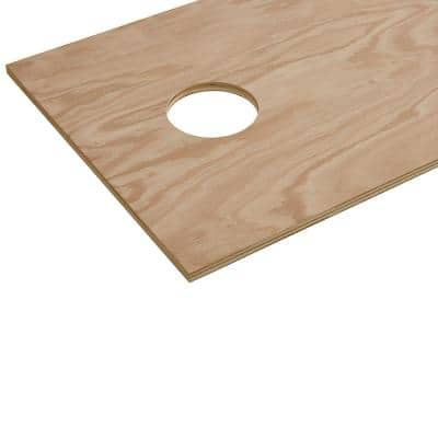 3/4 in. x 2 ft. x 4 ft. Red Oak Plywood Corn Hole Board Top