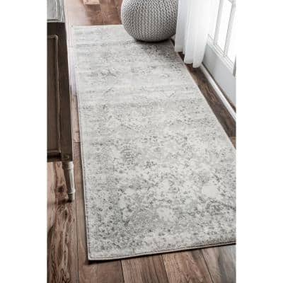 Odell Distressed Persian Ivory 3 ft. x 8 ft. Runner